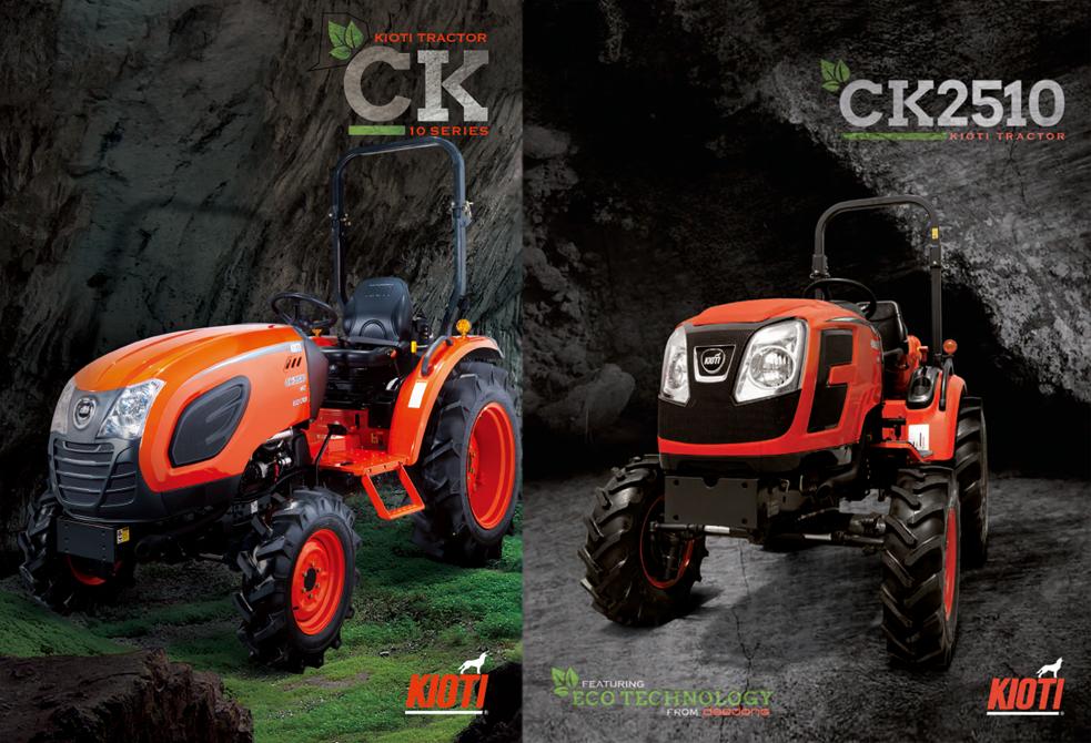 Новые тракторы KIOTI CK10